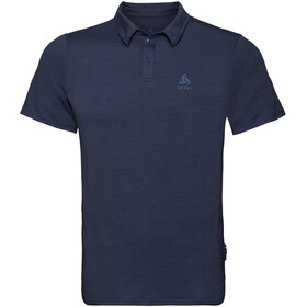 Odlo Ceramiwool SS Polo Herren diving navy